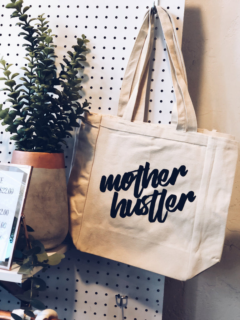 Mother hustler tote bag, mothers day gift