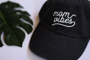 Load image into Gallery viewer, Mom vibes hat. Mom life apparel Mom gift. Holiday gift for her. Mom life apparel. Mom hat. New mom gift