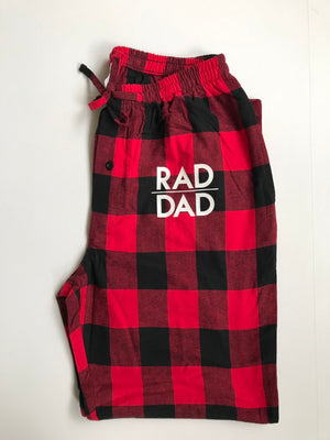 Load image into Gallery viewer, Rad dad flannel pajamas pants