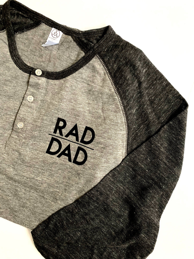 rad dad henley tee