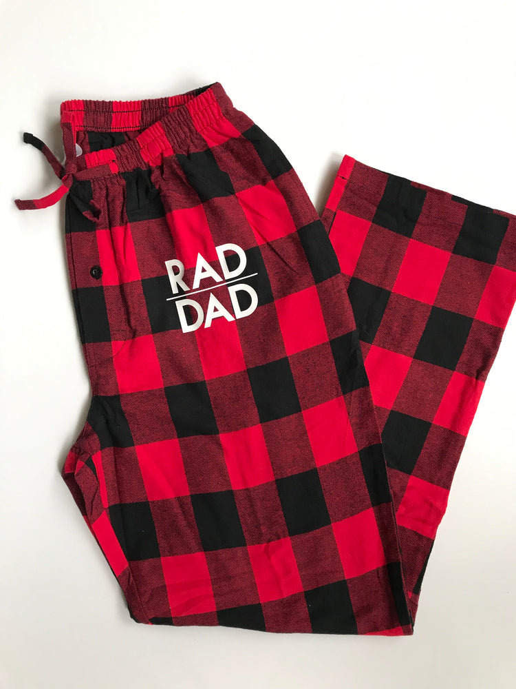 Rad dad flannel pajamas pants