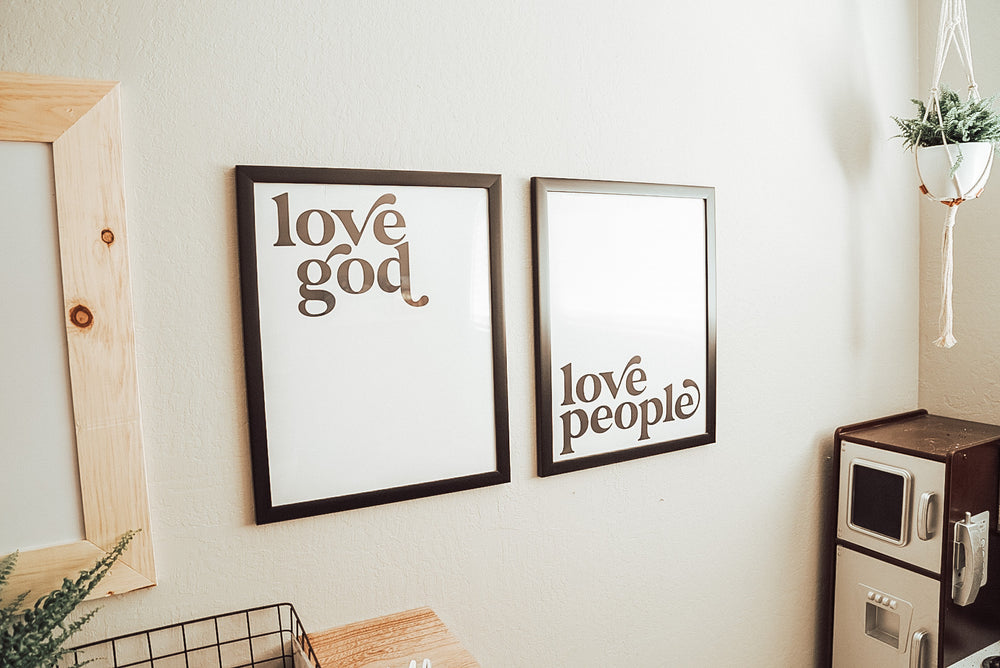 Load image into Gallery viewer, Love god, love people prints