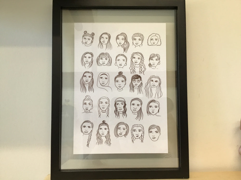 Framed Ladies Print