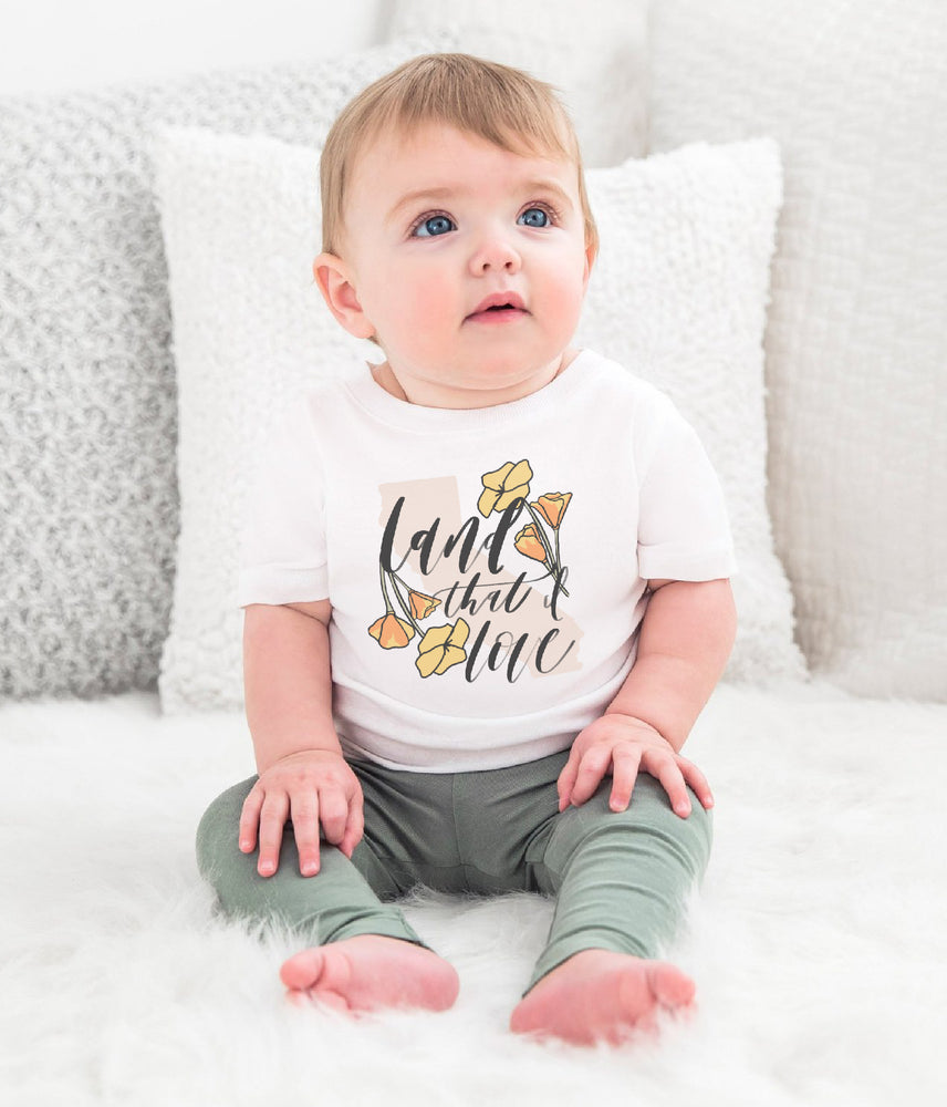Kids Land that I love floral Creek fire tee