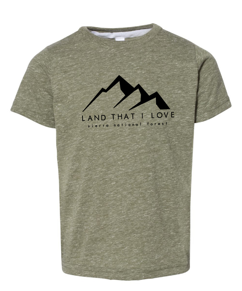 Kids Land that I love Creek fire mountain tee