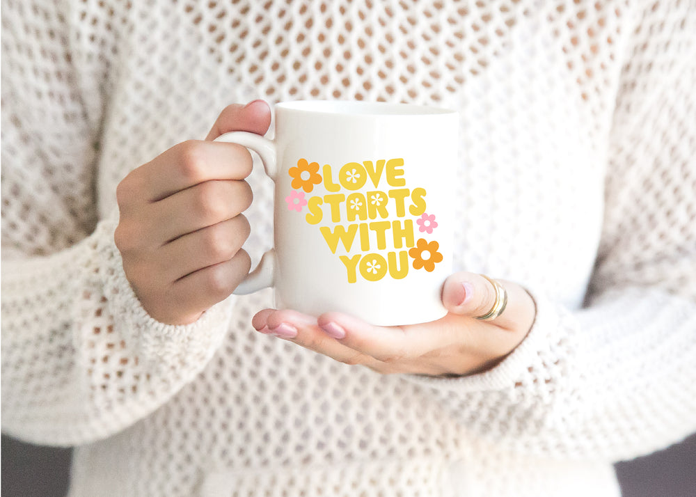 Load image into Gallery viewer, Love starts with you coffee mug