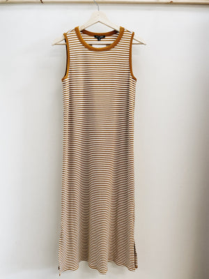 Load image into Gallery viewer, Striped muscle tank midi dress