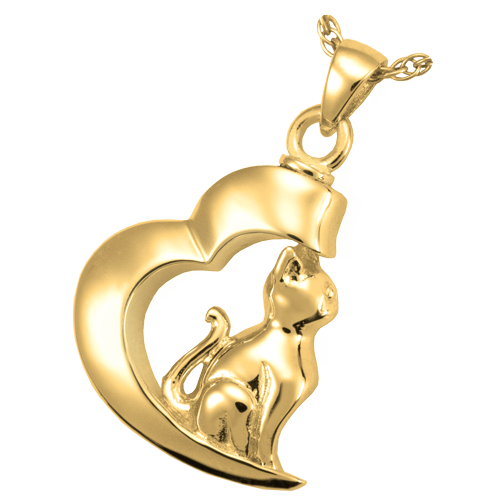 In My Heart Cat Pendant