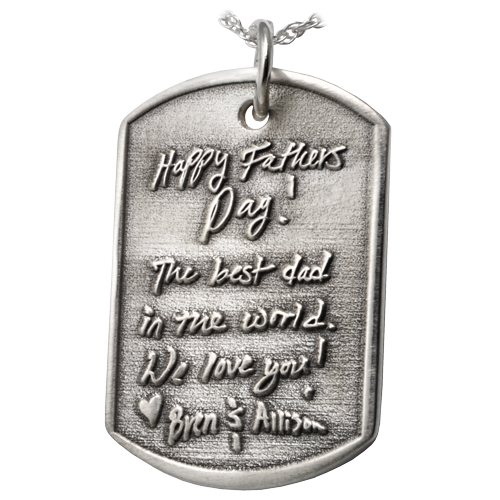 3D Handwriting Dog Tag