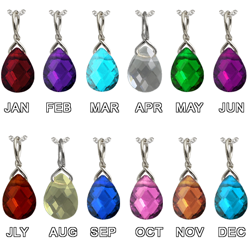 Birthstone Drop Charm