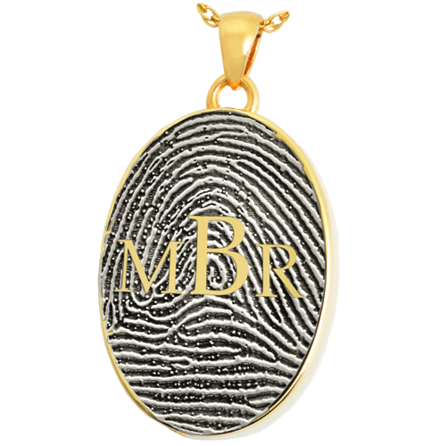 Oval Fingerprint Monogram