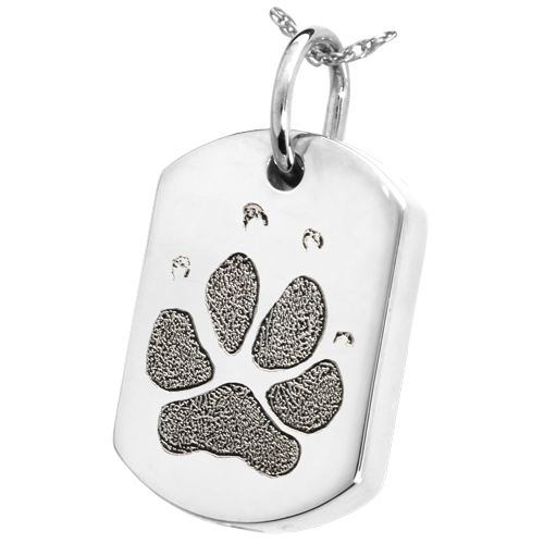 Dog Tag Actual Pawprint