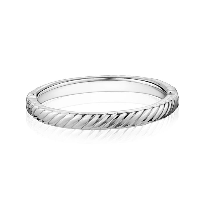 Silver Striped Bangle