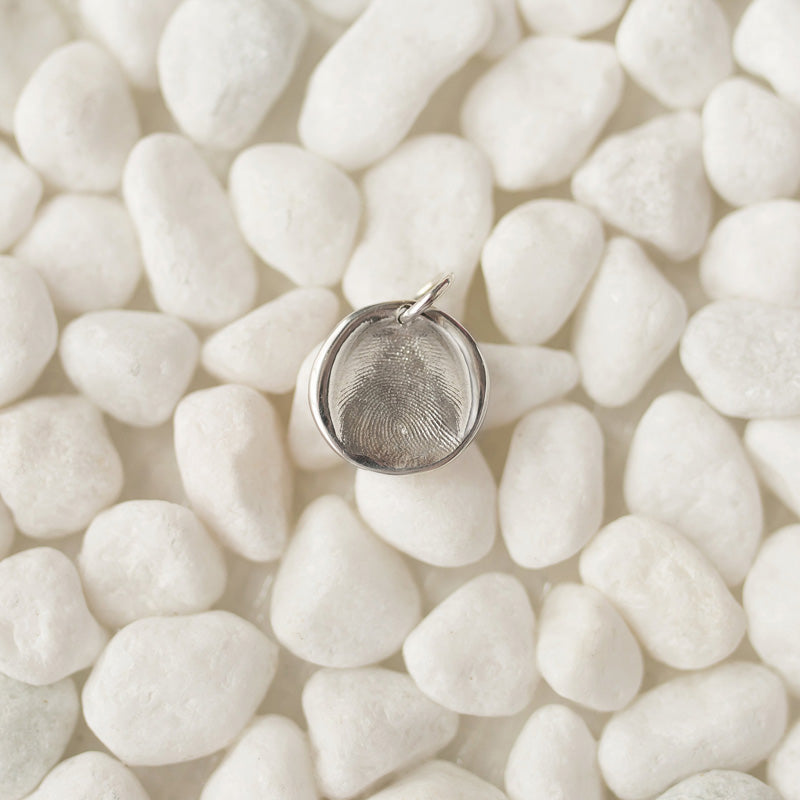 Small Circle Fingerprint Charm