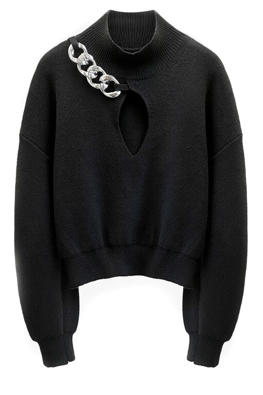 Chain Neck Sweater - BIDA Boutique