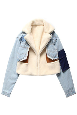 Denim Patchwork Jacket - BIDA Boutique