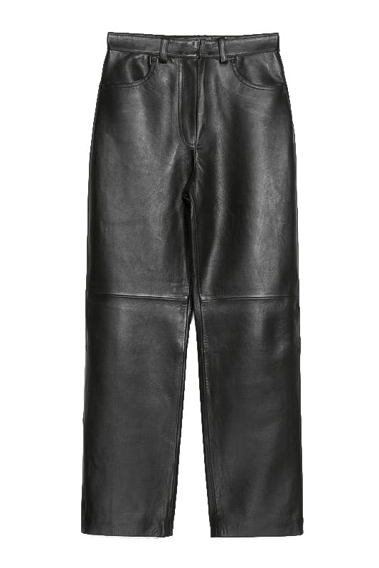 Kelsey Vegan Leather Trouser - BIDA Boutique