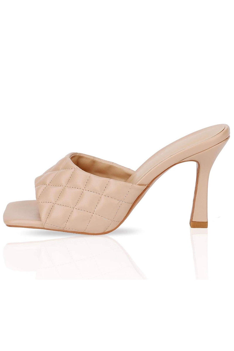 Elle Quilted Heel - BIDA Boutique