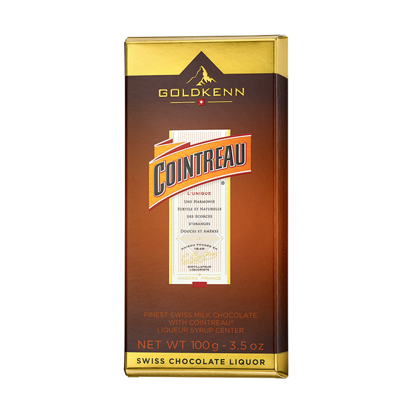 Cointreau Liquor Filled Chocolate Bar Goldkenn, Switzerluxe