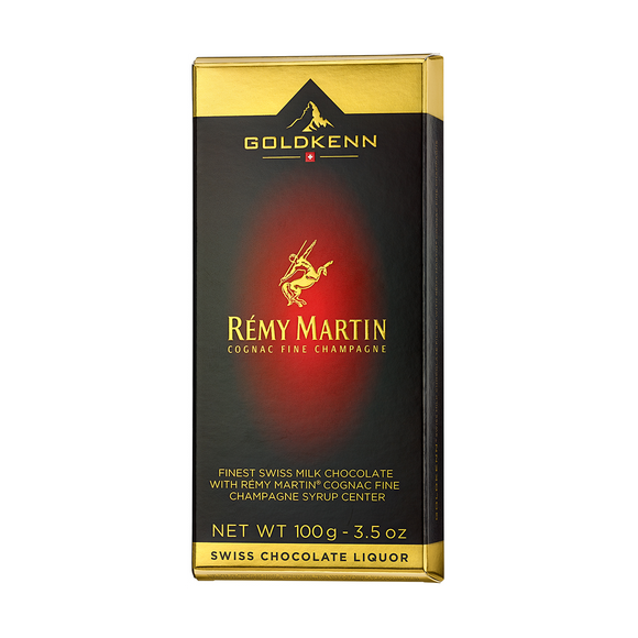 Rémy Martin Fine Champagne Cognac Liquor Filled Chocolate Bar Goldkenn, Switzerluxe