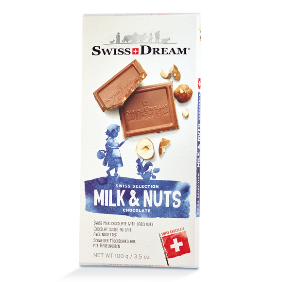 Milk Chocolate and Hazelnut Bar SwissDream