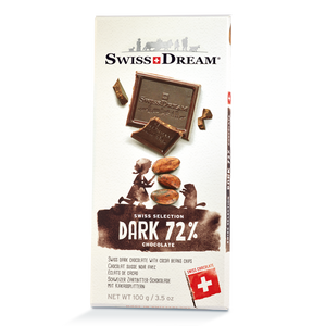 72% Dark Chocolate Bar SwissDream