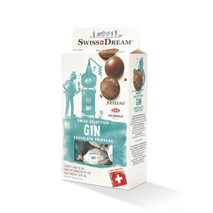 Dark Chocolate Truffles Filled with Milk Chocolate and Xellent® Gin Ganache