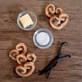 Palmier / Elephant Ear / Butterfly Cookies with vanilla from Madagascar - no palm oil, no GMOs, vegetarian