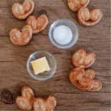 Organic Palmier / Elephant Ear / Butterfly Cookies - no palm oil, no GMOs, vegetarian