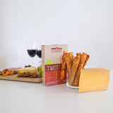 Organic Butter and Gruyere Cheese Twists / Cheese Straws - organic, no palm oil, no GMOs