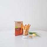Organic Salted Bread Twists / Puff Pastry Straws - organic, no palm oil, no GMOs, vegetarian