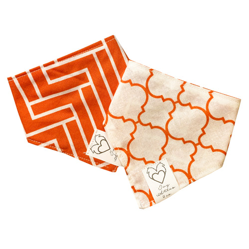 Bandana réversible orange XS