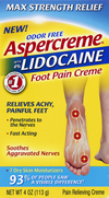 Aspercreme Foot Pain Lidocaine Cream - 4 oz