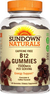 Sundown B-12 1500mcg Chocolate and Coffee Flavored Gummies - 90ct