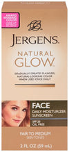 Jergens Natural Glow Face Moisturizer 2 oz (Fair/Medium)