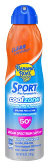 Banana Boat Sport Performance Coolzone Sunscreen Spray - Spf 50 - 6oz