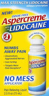 Aspercreme Lidocaine No-Mess Roll-On - 2.5 oz