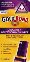 Gold Bond Pain And Itch Spray - 2 oz