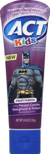 Act Kids Toothpaste Batman Fruit Punch - 4.6 oz