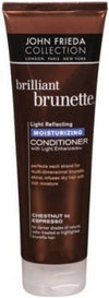 John Frieda Brilliant Brunette Moisturizing Conditioner for Chestnut to Espresso with Light Enhancers 11oz BIG