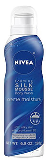 Nivea Creme Moisture Foaming Silk Mousse Body Wash - 6.8 oz