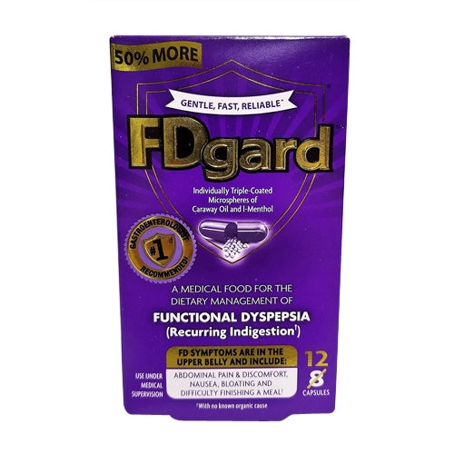 1cecf34f5c7 FDgard Dietary Management Of Functional Dyspepsia Individually  Triple-Coated Capsules 12 ea