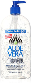 Fruit Of The Earth Aloe Vera 100% Gel, Crystal Clear - 24 oz (680 g)