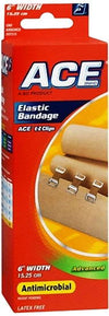 Ace Advanced Antimicrobial Elastic Bandage 6 Inch Width - 1 ea