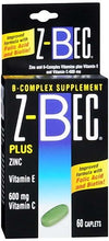 Z-Bec Plus Zinc B-Complex 60 tablets