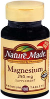 Nature Made Magnesium 250 mg Tablets 100ct
