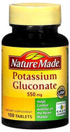 Nature Made Potassium Gluconate 550 mg Tablets 100ct