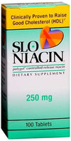 Slo-Niacin 250mg Tablet 100ct