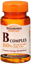 Sundown B-Complex Tablets 100ct