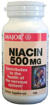 Major Niacin 500mg Tablets - 100 each